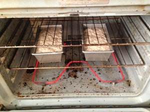 yup, our oven is a hot mess… literally… but doesn't the bread look good?!