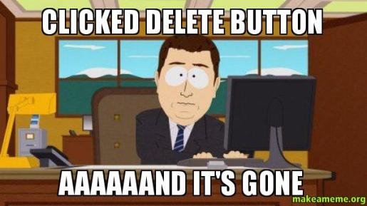 clicked-delete-button